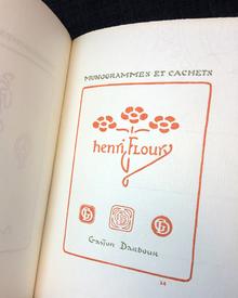 (Auriol, George) (1863-1938): Le premier livre des cachets, marques et monogrammes dessinés.