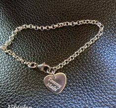 Armband med budskapshjärta i silver