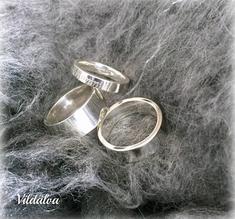 Ring silver tjockt gods, st 17