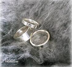 Ring silver tjockt gods, st 18