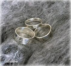 Ring silver  st 16