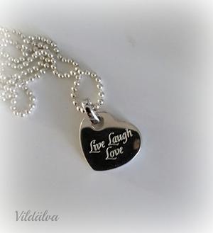 Tjockt hjärta i äkta silver