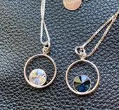 Cirkel i äkta silver med sten