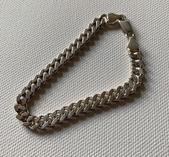 Pansarlänk äkta silver 18 cm