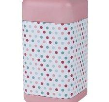 Fyrkantig teburk - Retro Rosa med mönster 200 g