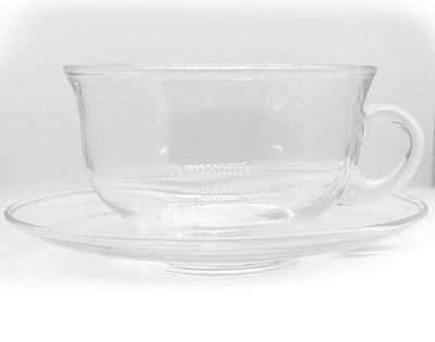 Tekopp  med fat i glas - 2:A SORTERING