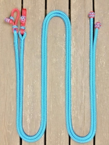 Split reins with rope connectors and end knots
