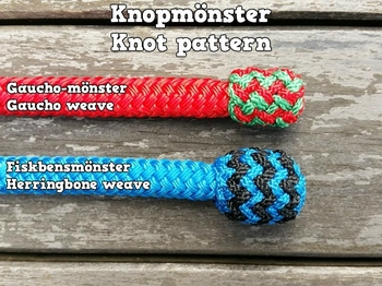 Mecate rein with end knot and back splice