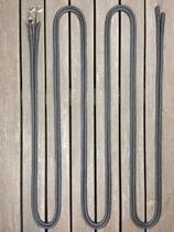 Delade tömmar med permanenta hakar och ändsplitsar - 10 mm