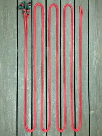 Delade tömmar med repfästen och ändsplitsar - 6 mm