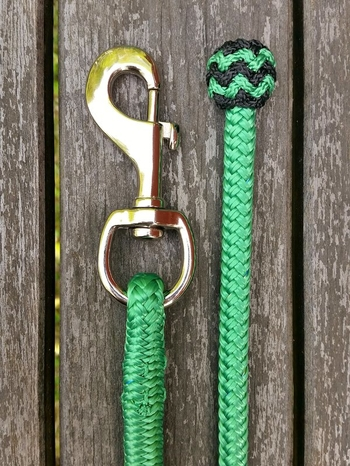 Lead rope with bolt snap and end knot - 10 mm