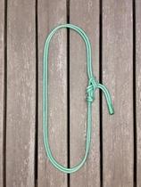 Throatlatch with rope halter tying