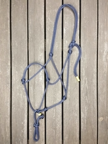 Rope halter with running rope connector