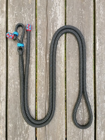 Lead rope with rope connector and end knot - 10 mm