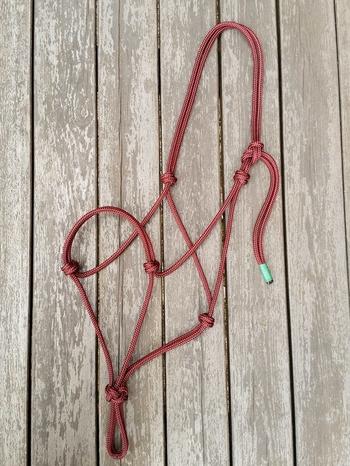 Standard rope halter - Cob, Burgundy