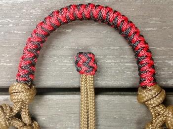 Braided sidepull rope halter with loops - Full, Brown