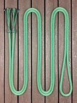 Mecate rein with tassels - 14 mm, 6,70 m, Green