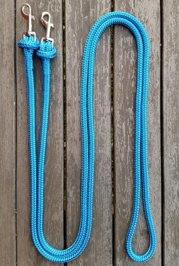 Loop reins with removable bolt snaps - 3,20 m, Blue