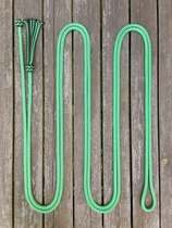 Mecate rein with button knot and tassel - 10 mm, 6,70 m, Green