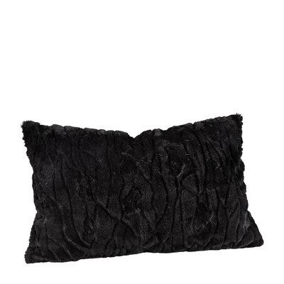 CELINE Solid Black Cushioncover