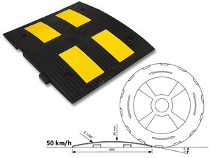 Fartdämpare 50 km/h, mittendel