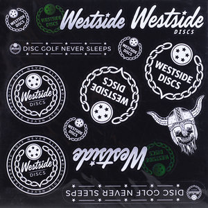 Latitude 64°, Dynamic Discs and Westside Discs Sticker Sheets