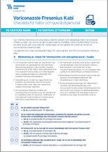 Checklista för hälso- och sjukvårdspersonal gällande Voriconazole Fresenius Kabi