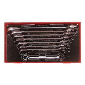 Teng Tools  U-ringnyckel sats med spärrfunktion