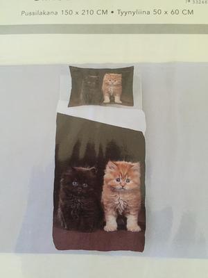 Bäddset, söta katter från Redlunds