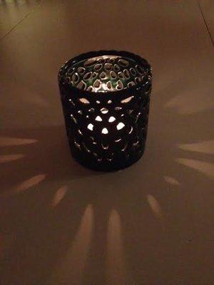 Ljuslykta i keramik , från mitt&Ditt