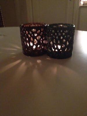 Ljuslykta i keramik ,grön från mitt&Ditt