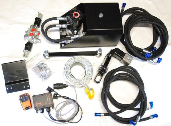 Hydraulic winch We-1700 M3S12 with radio control