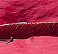 Röd Tunn Hård Läderpaddel