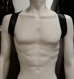 Leather Harness Shoulders Black