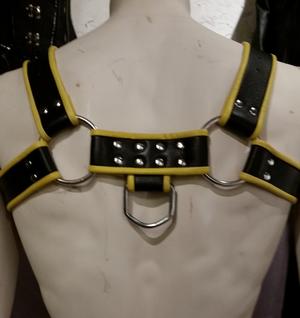 Harnisch aus Leder Bondage Brüste