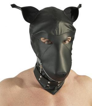 Konstläder hund mask
