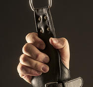 Leather Handcuffs for hanging