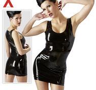 Latex-miniklänning Svart