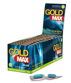 GoldMAX BLÅ (2 Kapslar X 12Pack)