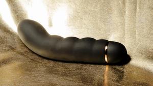 G- and P-spot Vibrator, wavy, 10-speed, Black