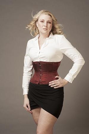 Underbust Maroon IR Silke (T-shirt modell)