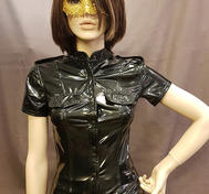 Short sleeved PVC Shirt with  Epaulettes