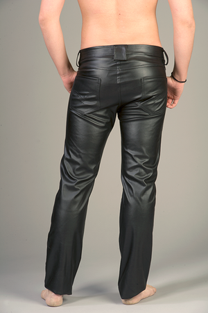 "Black Pants in PU Leather ""Classic model"""