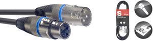 1M/3FT MIKE CBL XLRf-XLRm/BLU