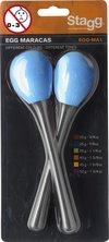 2Pc Egg Maracas L/ 3/8Oz/Blue