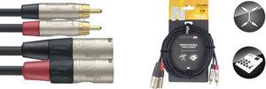 3M/10FT TWIN CBL RCAm-XLRm DLX