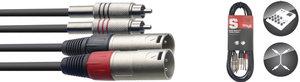 60CM/2FT TWIN CABLE RCAm-XLRm
