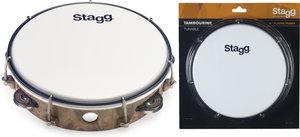 "8""Tambourine 1Row Jg/Plst Wood"