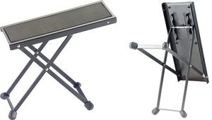 Black Guitar Foot Stool