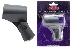Mic Clamp/Rubber/Standard/Blk